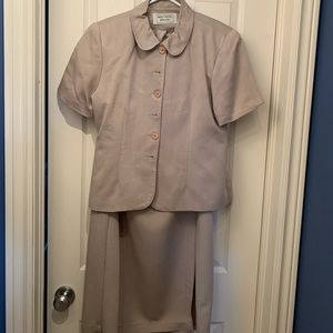 2 for $40 Beige short sleeve blazer &skirt 10